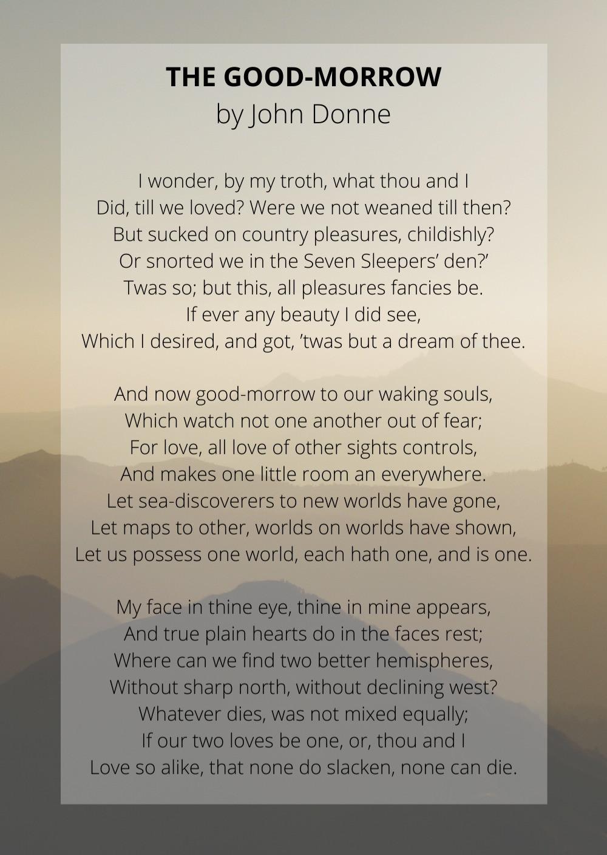 John Donne's The Good-Morrow