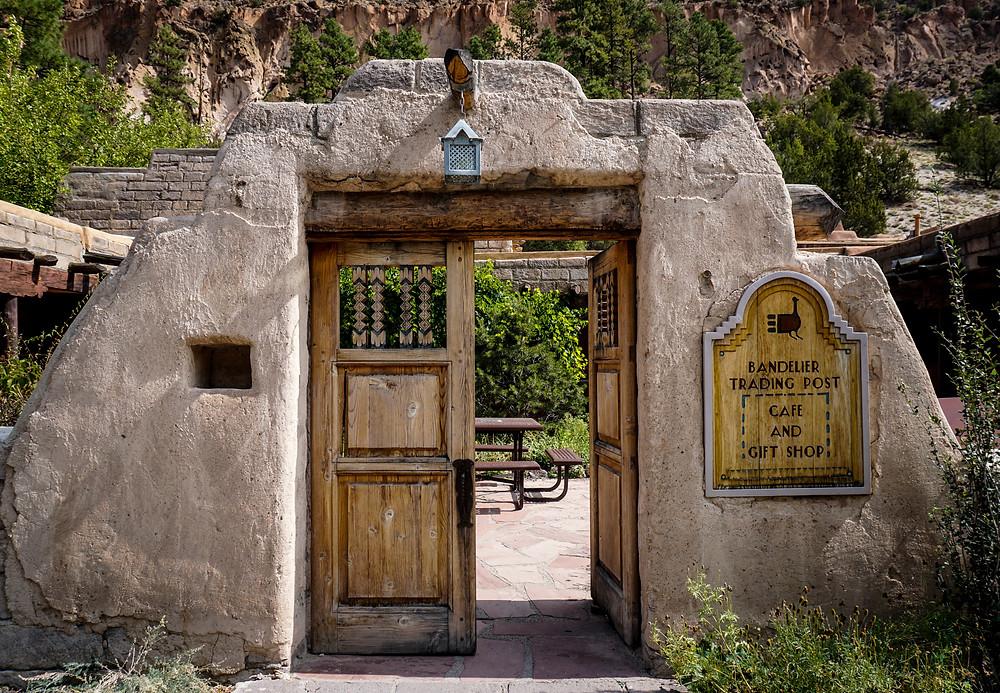 The Park Store entrance at Bandelier National Monument