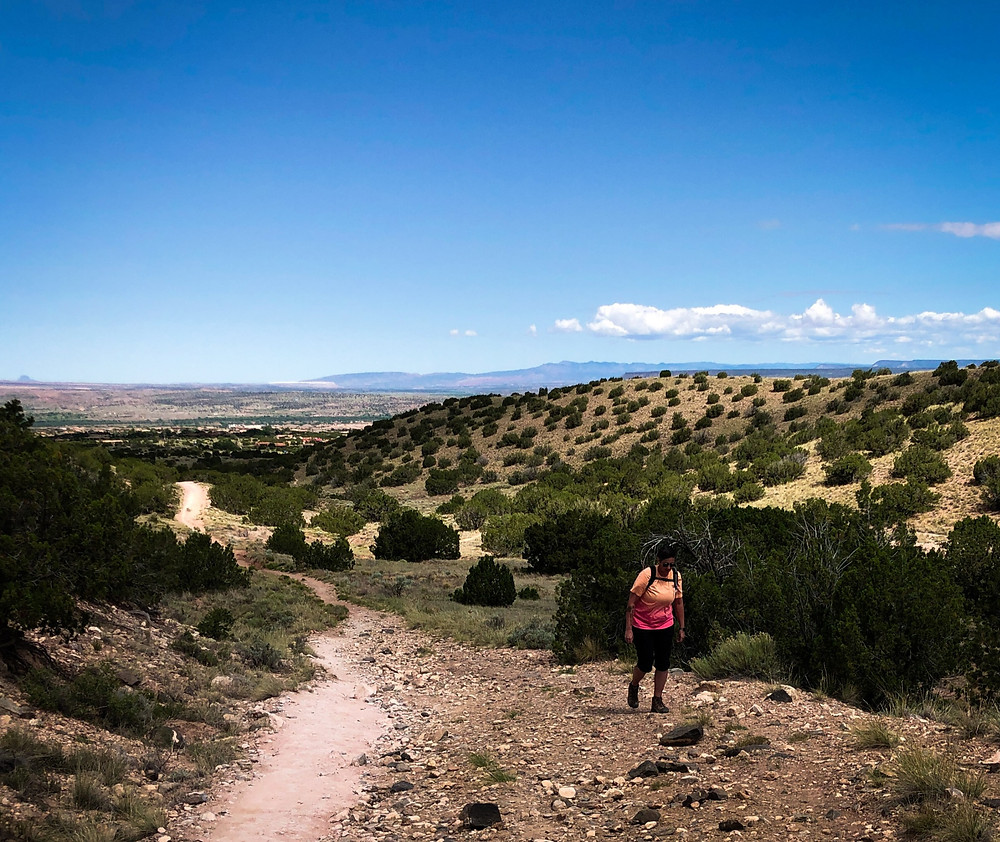 Hiking a desert trail with chronic pain
