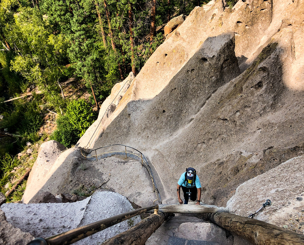Climbing to Alcove House in Bandelier National Monument