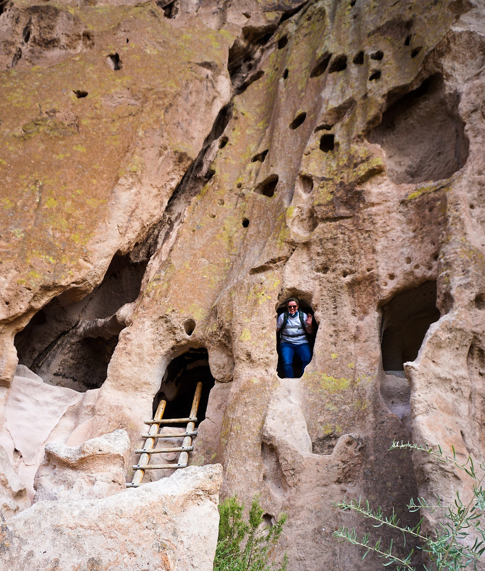 Cavates at Bandelier National Monument