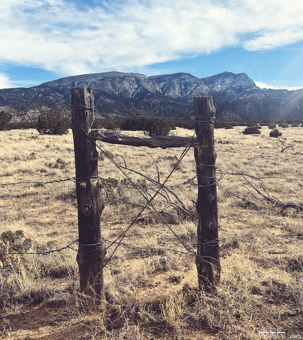 Mountain view from Placitas, New Mexico