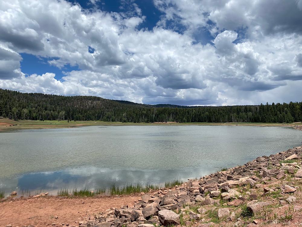 San Gregorio Reservoir within San Pedro Parks Wilderness Area