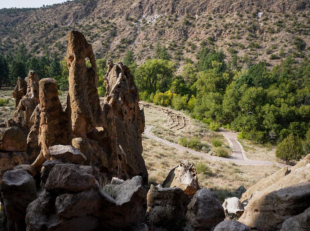 Big kiva view at Bandelier National Monument