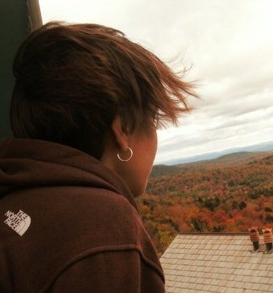 Looking to the future over the Vermont fall landscape