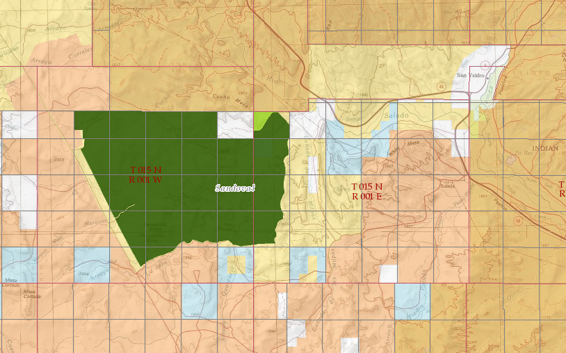 Building Land Management Map around San Ysidro and Ojito Wilderness Area