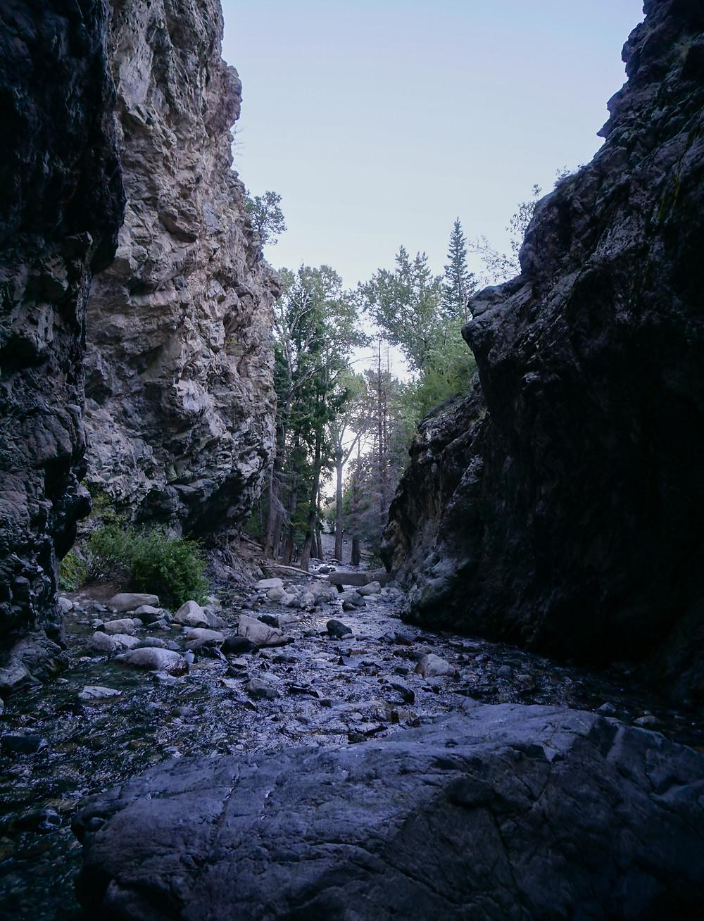 Entrance to Zapata Falls