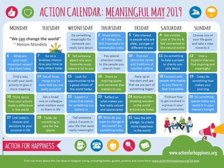Action for Happiness - Meaningful May!