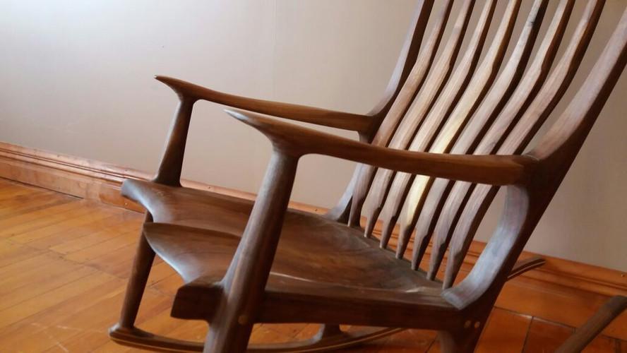 Sculptured Rocking Chair | American Walnut