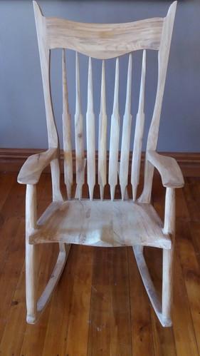 Sculptured Rocking Chair | Ash