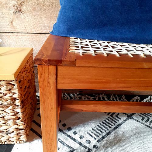 Riempie Bench | Leather Laces