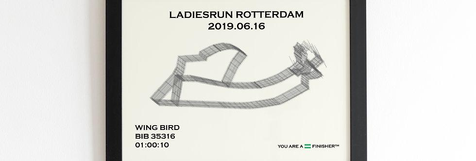 """Ladiesrun Rotterdam 2019 - """"Wireframe"""""""