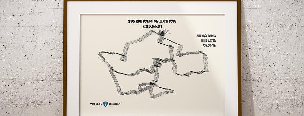 "Stockholm Marathon 2019 - ""Wireframe"""