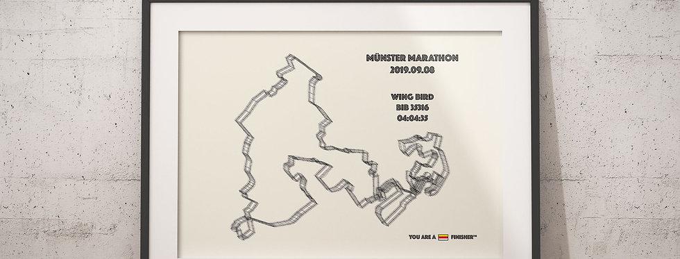 """Münster Marathon 2019 -""""Wireframe"""""""