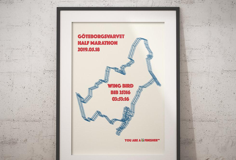 """Göteborgsvarvet 2019 - """"Wireframe"""""""