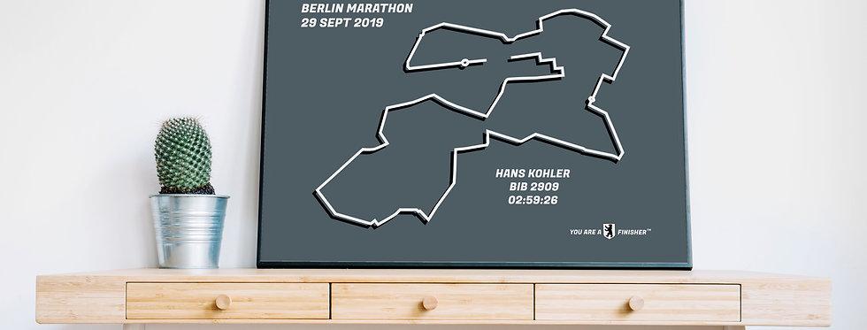 "Berlin Marathon 2019 - ""Retro Gray"""