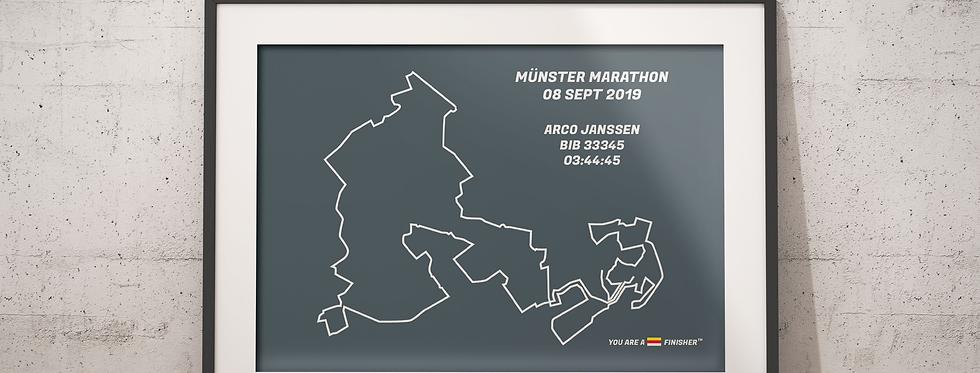 "Münster Marathon 2019 -""Retro Gray"""