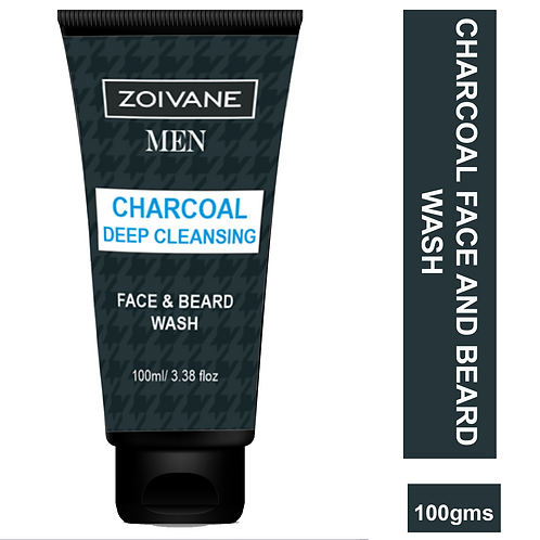 Zoivane's Charcoal Deep Cleansing Face and Beard Face Wash, 100ml