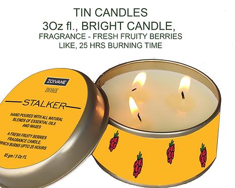 Zoivane's Tin Candles, Burning Time 25 Hours, 3 oz
