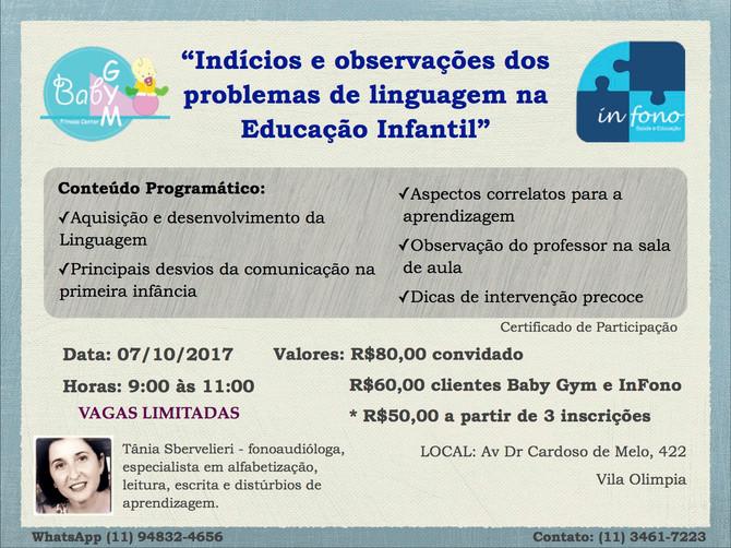 """""""Indícios e observações dos problemas de linguagem na Educação Infantil"""""""