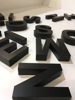 3D Cutout Letterings