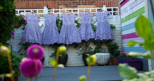 wedding dress bridemaids detail photo