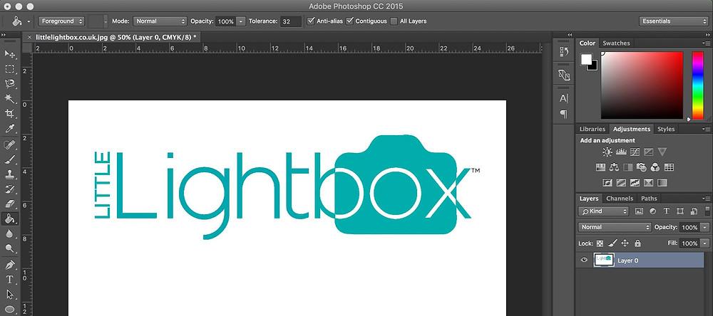 Little Lightbox photoshop retouching example