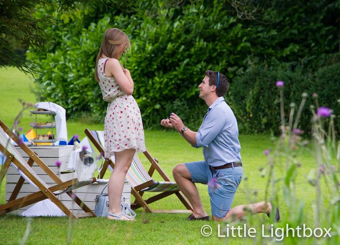 A surprise engagement photo shoot.