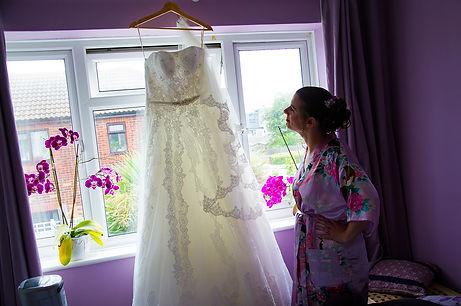 bride morning ready dress photo