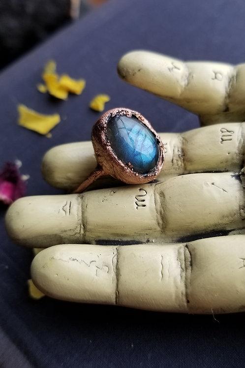 Labradorite Statement Ring No. 2 Size 8