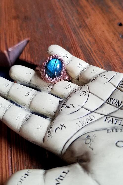Labradorite Statement Ring No. 1 Size 8