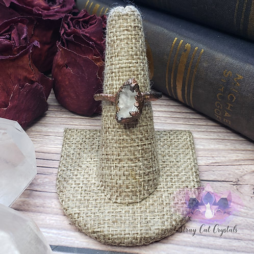 Natural Quartz Ring -Size10