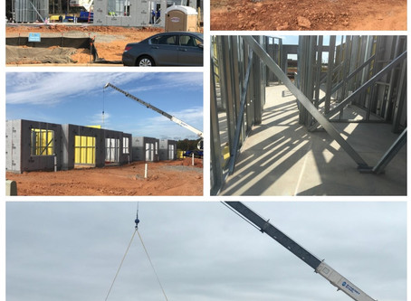 Synergy Steel Begins Framing of 150 Unit Townhouse Community!
