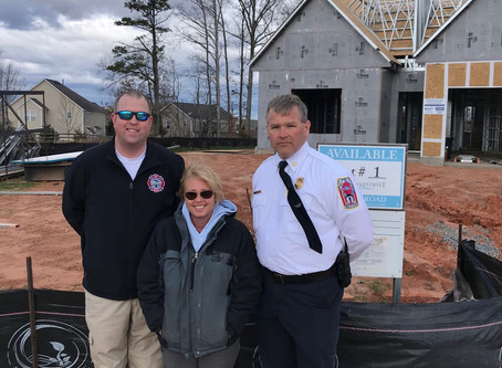Fire Department visits homes constructed of steel in Waxhaw, NC!