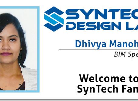 Welcome Dhivya Manoharan