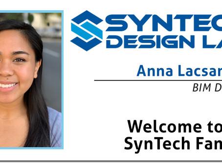 Welcome Anna Lacsamana