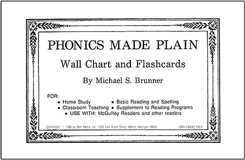 Phonics Made Plain Wall Chart and Flashcards