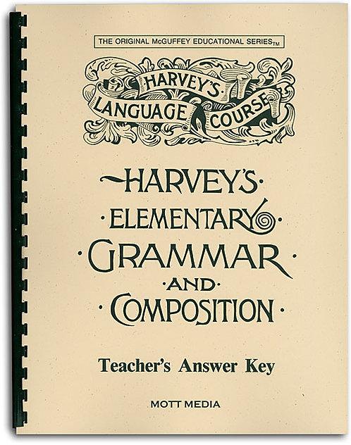 Harvey's Elementary Grammar and Composition Teacher's Answer Key