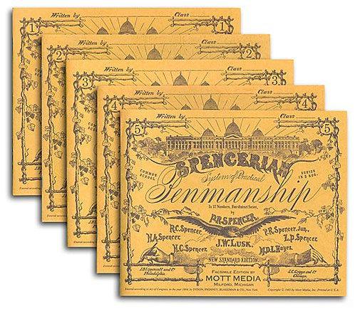 Spencerian Penmanship Copybook Set (5 books)