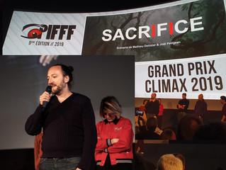 MATHIEU DELOZIER lauréat du GRAND PRIX CLIMAX avec SACRIFICE