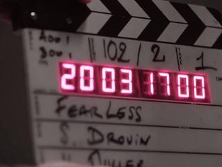 Sébastien Drouin en tournage d'une série Blackpills