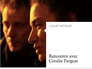 """Coralie Fargeat """"dans l'oeil des Inrocks"""""""