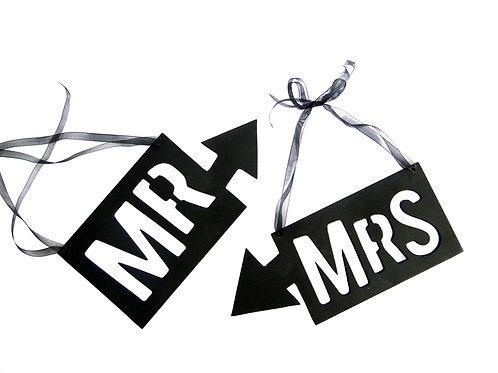 Placas Mr & Mrs