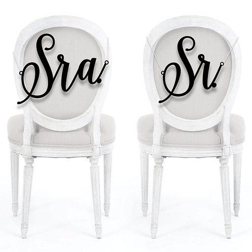 Placa Cadeiras Sra. Sr