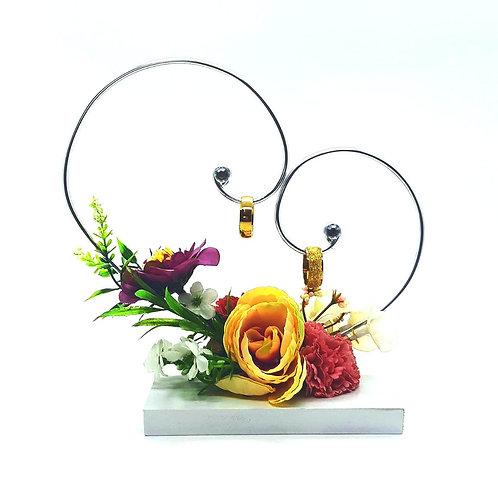 Porta Aliança Coração Floral