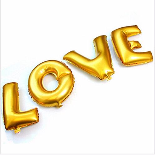 """Balões Love 16"""""""