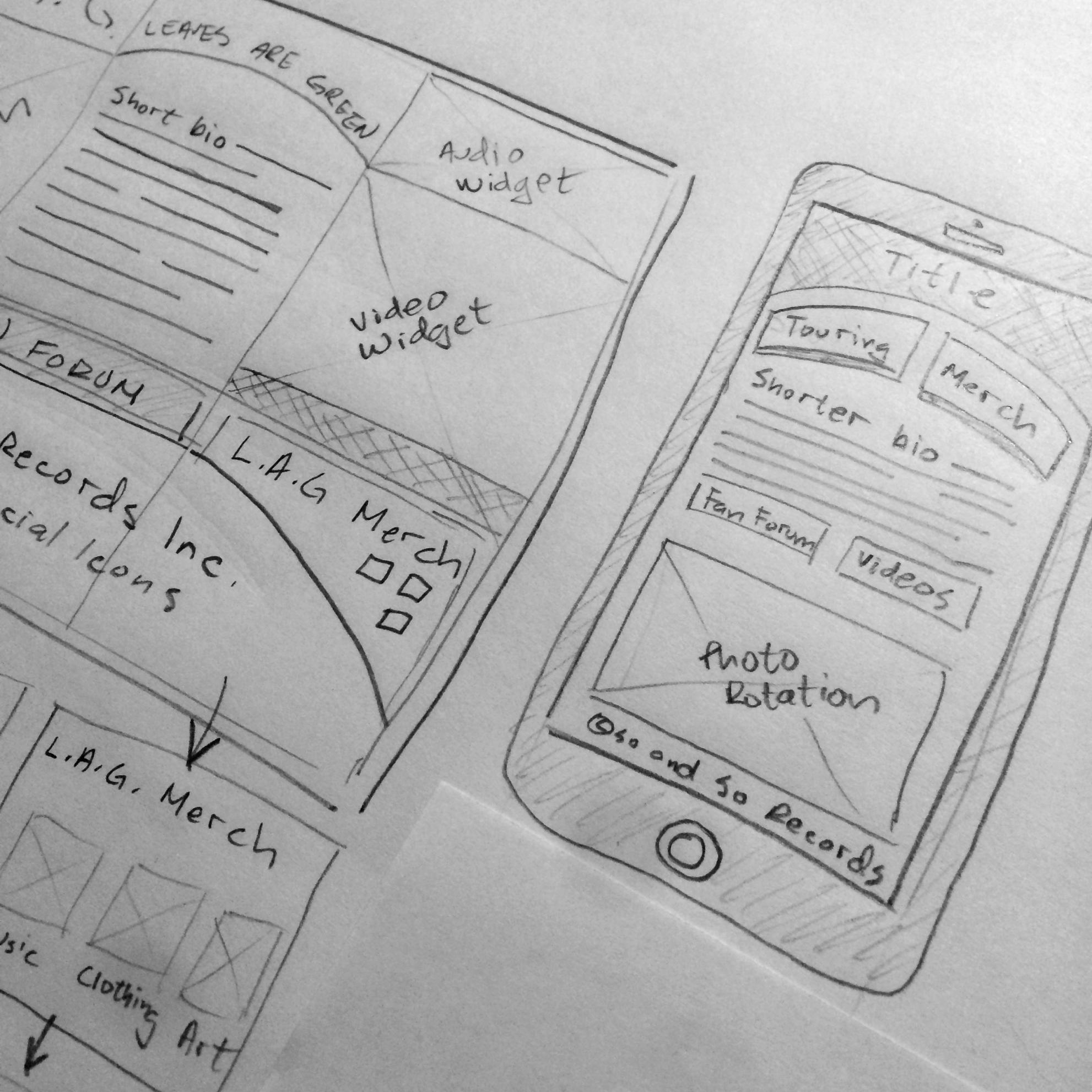 Sketched UI