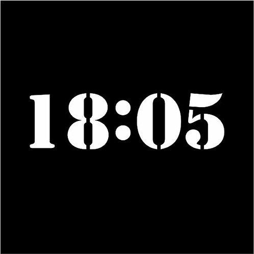 Kunstprojekt Minute schwarz gerahmt in ALU, alles Unikate