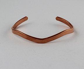 """3/16""""Wavy Cuff Bracelet in Copper"""