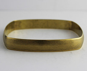 Square Shaped Bangle with Lined Pattern